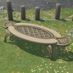 Table de jardin en mithril