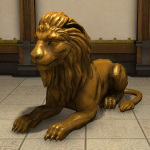 Statue de lion royal