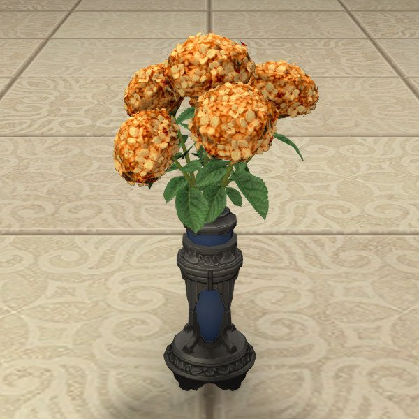 Bouquet d'hortensias orange